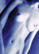 Nude womans torso, front_view