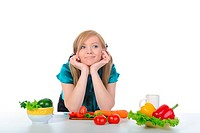 girl and healthy nutrition
