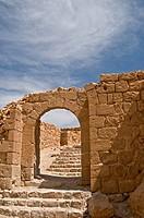 Ruins of Byzantine buiding, Masada National Park, Israel, Asia