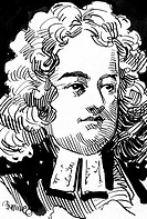 A pen and ink drawing of author Jonathan Swift 1667_1745. Courtesy: CSU Archives/Everett Collection
