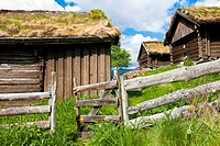 Old log cabins in Norway
