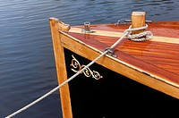 Bow on a wooden boat