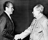 1972 US Presidency. President Richard Nixon meeting with Chairman Mao Tse_tung, Peking, China, February, 1972