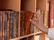 woman Hands holding ancient books