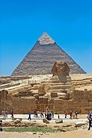 Sphinx and Chephren Pyramid. Giza. UNESCO. World Heritage Site