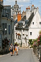 France, Indre et Loire, Loches, street of the Chateau