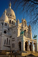 The Sacre-Cœur Basilica  Montmartre  Paris, France, Europe