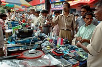Foreign goods are sold at the footpath of Kolkata India July 18, 2007