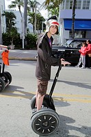 Florida, Miami Beach, ´Ocean Drive´, teen, boy, male, Segway,