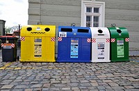 Containers for garbage, Prague, Czech Republic, Central Europe