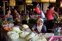 Badung kitchen market at Denpasar Bali, Indonesia October 2010