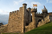 Castle of Ponferrada in Castilla Le&#243;n province, Spain