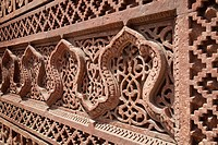 Intricate carving, Qutb Complex, UNESCO World Heritage Site, Delhi, India, Asia