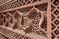 Intricate carving, Qutb Complex, UNESCO World Heritage Site, Delhi, India, Asia