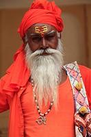 Sadhu holy man, Jaipur, Rajasthan, India, Asia