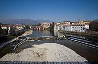 Italy, Veneto, Bassano del Grappa, Brenta river, Ponte degli Alpini, Palladio