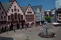 The Romerberg plaza one of the major landmarks in Frankfurt am Main, Hesse, Germany, Europe