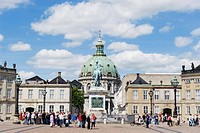 Frederikskirken Church Marmorkirken, Amalienborg Palace, home of the royal family, Copenhagen, Denmark, Scandinavia, Europe