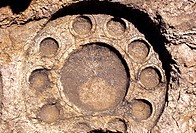 STONE CARVING OF THALI PLATE, LEPAKSHI TEMPLE, ANDHRA PRADESH, INDIA