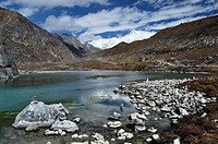 Gokyo Lakes and Cho Oyu, Gokyo, Sagarmatha National Park, UNESCO World Heritage Site, Solukhumbu District, Sagarmatha, Eastern Region Purwanchal, Nepa...