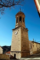 Parish church, Linares de Mora village,Teruel province, Aragon,Spain