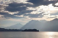 Sunrise, Stresa, Lake Maggiore, Italian Lakes, Piedmont, Italy, Europe