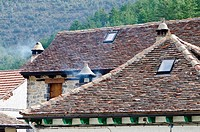 Fago village is located in Pyrenees mountain  Nature Park of Valles Occidentales  Huesca  Aragon  Spain