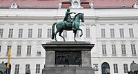 Statue of Joseph II and Prunksaal, Vienna, Republic of Austria, Österreich, Republik Österreich, Central Europe