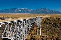 Rio Grande Gorge Bridge and US Route 64, near Taos, New Mexico, United States of America, North America