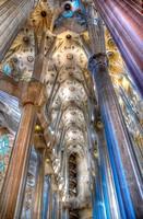 Side nave of Sagrada Familia by Gaudí, Barcelona. Catalonia, Spain