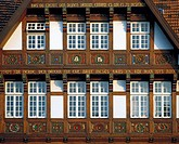 Germany, Osnabrueck, Hase, Hase valley, Osnabruecker Land, Teutoburg Forest, Wiehengebirge, Lower Saxony, half-timbered house in the Dielingerstrasse,...