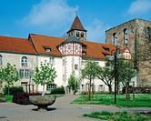 Germany, Bad Hersfeld, Fulda, Haune, Hersfelder Senke, Hesse, Stiftsruine, monastery ruin, church ruin, former abbey Hersfeld, Benedictine monastery, ...