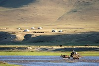 Mongolia, Ovorkhangai district, Orkhon valley, Orkhon river.