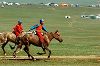 Mongolia, Ulan Bator, Nadaam Day, national folk festival in honor of Genghis Khan, wrestling, archery, horse races are scheduled