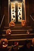 halloween, pumpkins, decorations,