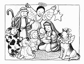 Christmas Pageant in Black and White
