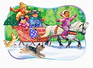Children on a Sleigh