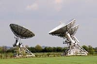 Radio Telescopes at The Mullard Radio Astronomy Observatory, Lord's Bridge, Barton, Cambridgeshire, England, UK