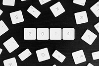 Computer keys arranged to read the calendar year 2014
