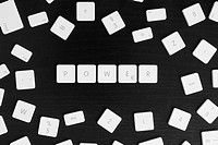 Computer keys spelling the word POWER