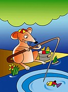 Rat Fishing With Tail