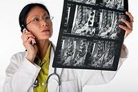 Doctor Reading MRI scan