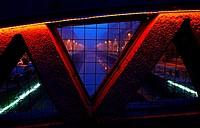 Alzaia Naviglio Grande Milano Italy - From a window on the bridge in the blue hour