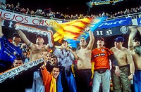 Fans of Valencia CF yomus  In Valencia stadium  Valencia,spain