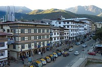 Thimphu downtown, in the afternoon Bhutan November 17, 2007 Thimphu is the capital of Bhutan, and also the name of the surrounding valley and the Thim...