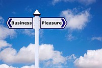 Business and Pleasure sign