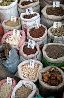 A stall selling herbs and spices in the old quarter in Guangzhou, in Guangdong province, China May 2009