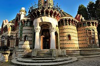 Detail of the House El Capricho, His real name is Villa Quijano, designed by architect Antonio Gaudi in the town of Comillas in Cantabria, Spain