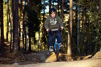 A boy on a BMX bicycle, Sweden.