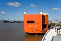 Car Carrier in the Port of Tilbury, Essex, England, United Kingdom, Europe